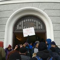 Die Jusos waren dabei vor dem Amtsgericht Fürstenfeldbruck